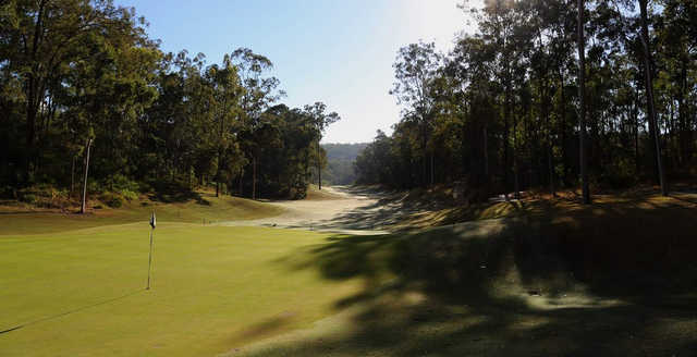 View of the 8th green at Brookwater Golf Club