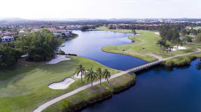 Aerial view of Palm Meadows' 18th hole