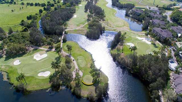 Palm Meadows' 6th green