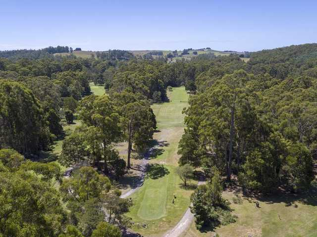 Aerial view from Ulverstone Golf Club.