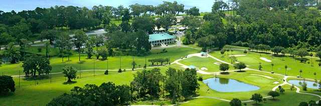 Aerial view from NAS Jacksonville Golf Club.