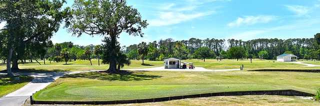A view of a tee at NAS Jacksonville Golf Club.