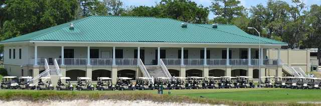 A view of the clubhouse at NAS Jacksonville Golf Club.
