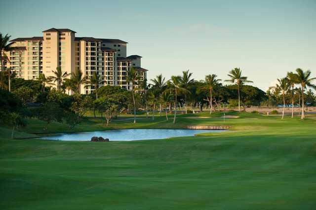 A view of hole #5 at Ko Olina Golf Club.