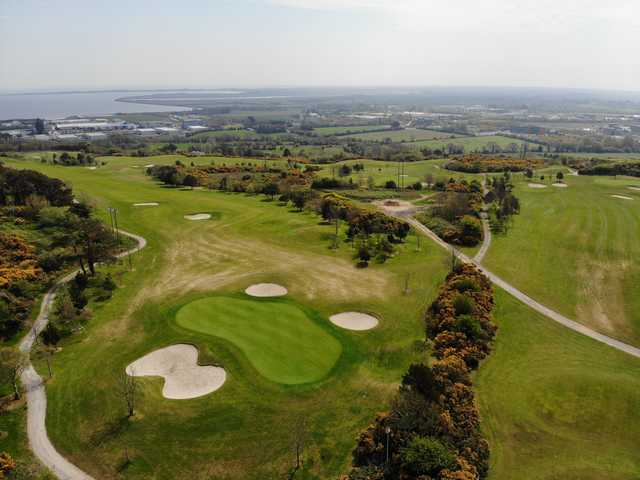 Aerial view of the 8th green from Wexford Golf Club.