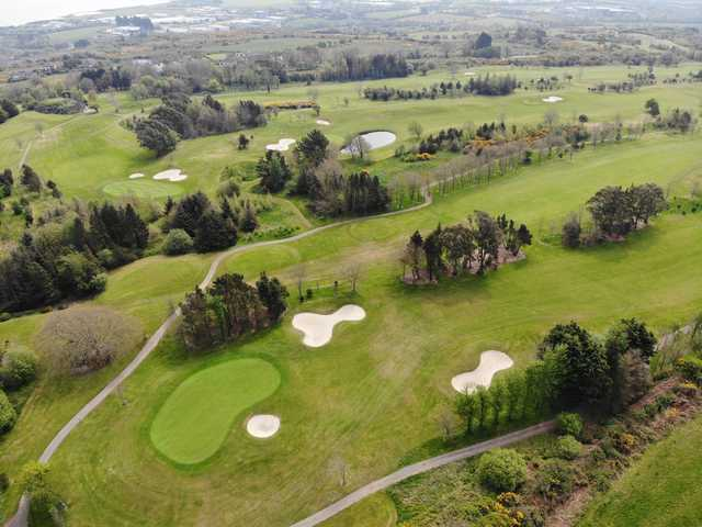 Aerial view of the 10th green from Wexford Golf Club.