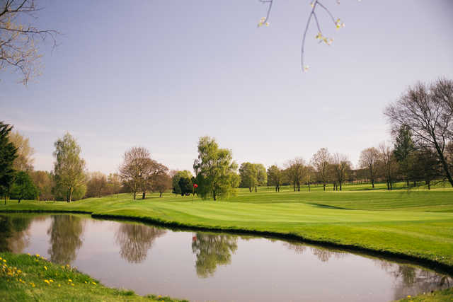View of the 1st green at Lucan Golf Club.