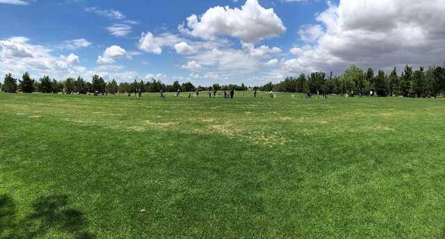 A view of the driving range from Links at RiverLakes Ranch.