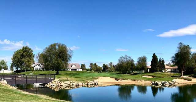 A view from the 18th fairway at Links from RiverLakes Ranch.