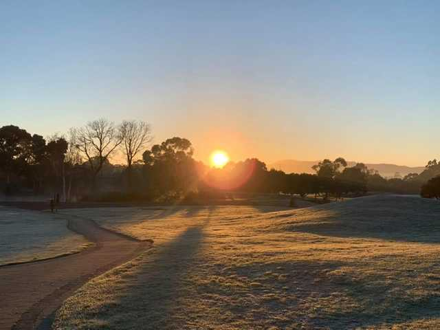 A sunset view from Country Club Tasmania.