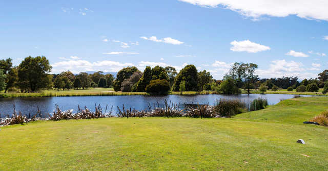A view from a tee at Country Club Tasmania.