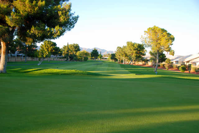 Looking back from the 7th green at Los Prados Golf Course.