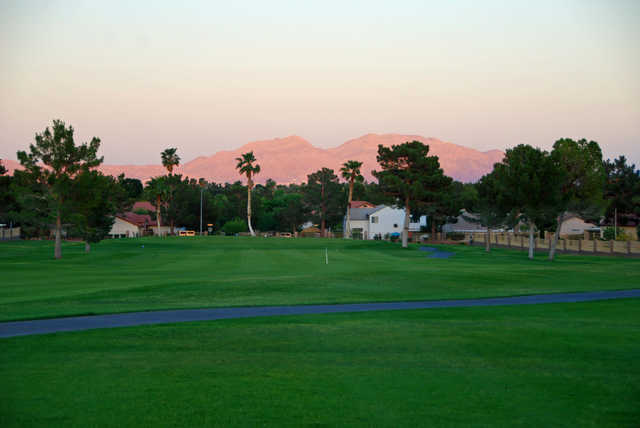 View of the 10th fairway at Los Prados Golf Course.