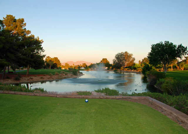 View from the 10th tee at Los Prados Golf Course.