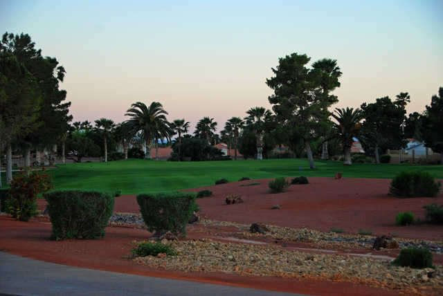 View of the 15th green at Los Prados Golf Course.