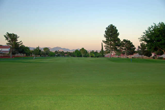 Looking back from the 13th green at Los Prados Golf Course.