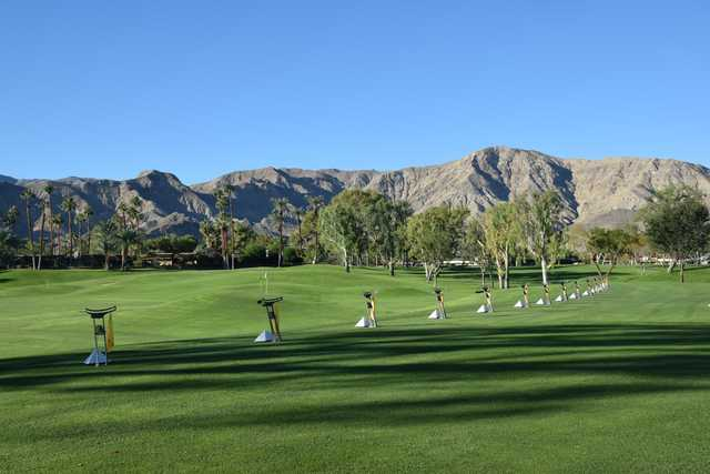 A view of the driving range at  The Springs Club.