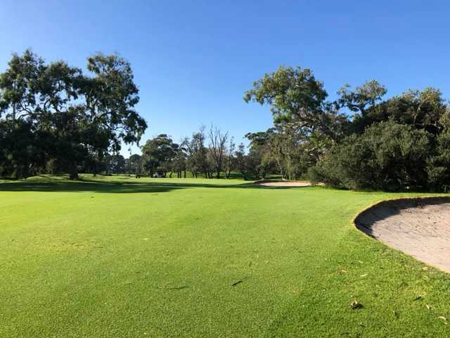 A sunny day view from a Rossdale Golf Club.
