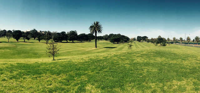 A view of a fairway at Albert Park Golf Course.