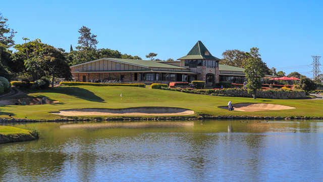 A view of hole #18 at Gateway Course from Nudgee Golf Club.