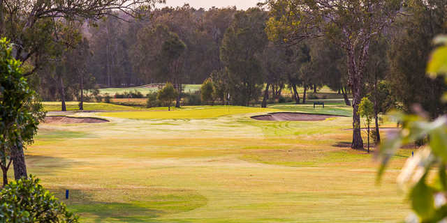 A view of hole #1 at Gateway Course from Nudgee Golf Club.