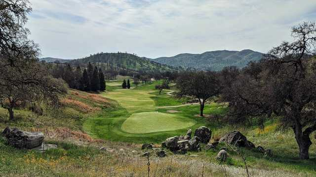A view of green #15 at Eagle Springs Golf & Country Club.