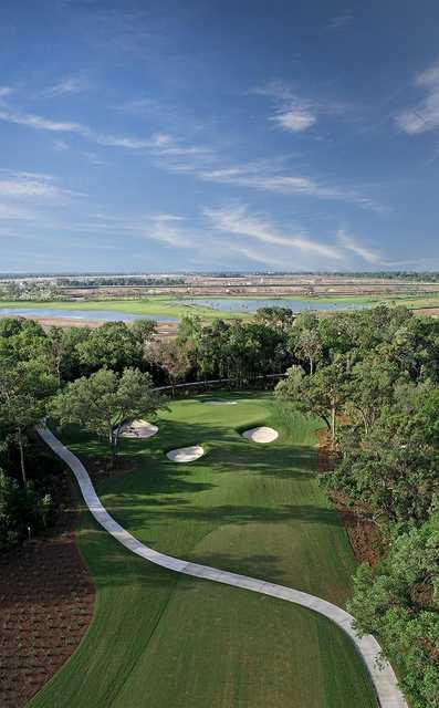 Aerial view from #12 at Esplanade at Azario Lakewood Ranch
