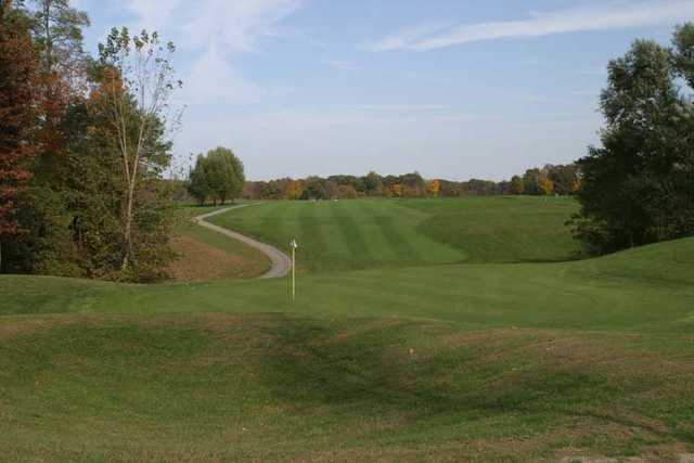 Looking back from a green at Ravines Golf Course.