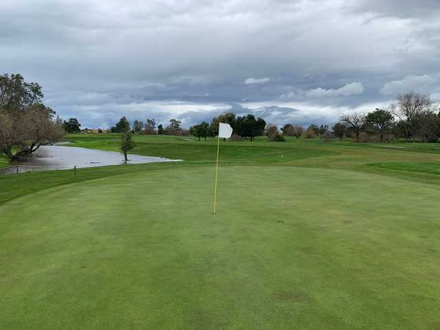 A view of the 16th hole at Micke Grove Golf Links.