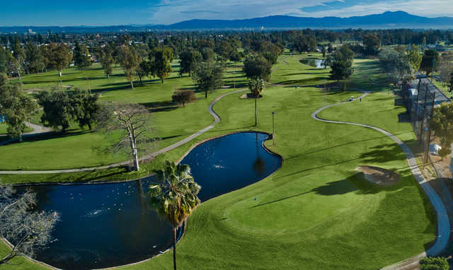 A view of the 15th green at David L. Baker Golf Course.