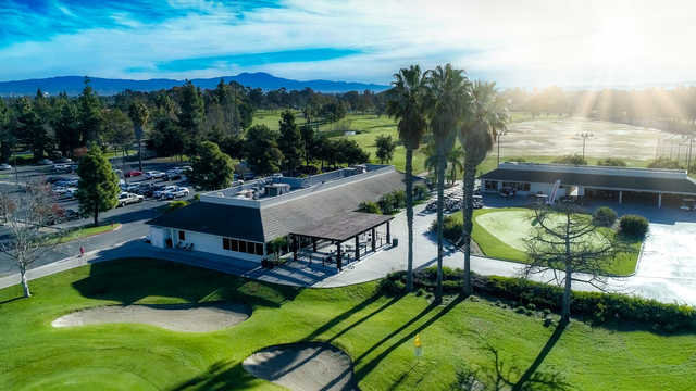 A view of the clubhouse at David L. Baker Golf Course.