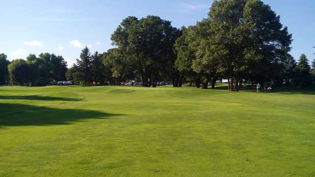 A view of the 6th hole at Executive Golf Course from Majestic Oaks Golf Club.
