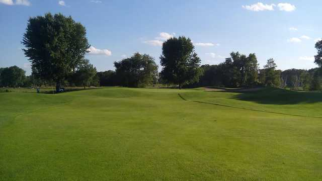 A view of the 7th green at Executive Golf Course from Majestic Oaks Golf Club.