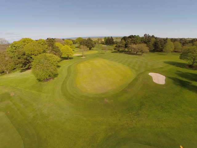 View of the 8th green at Skerries Golf Club.