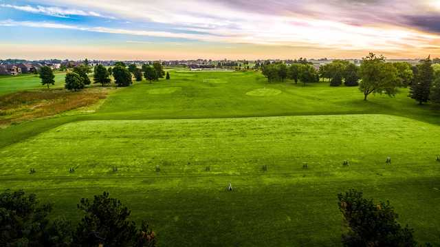 A view of the driving range at Otter Creek Golf Course.