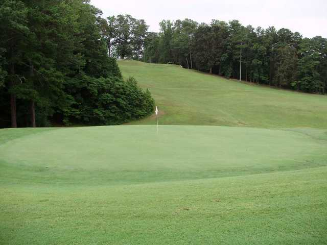 A view of a green at Alfred Tup Holmes Golf Club.