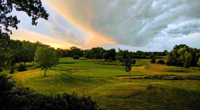 A view of the 16th hole at Crystal Lake Golf Club.