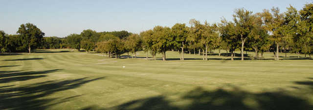 A view of a fairway at Mesquite Golf Course.
