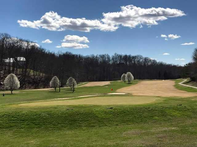 View of a green at Eagle's Nest Country Club.