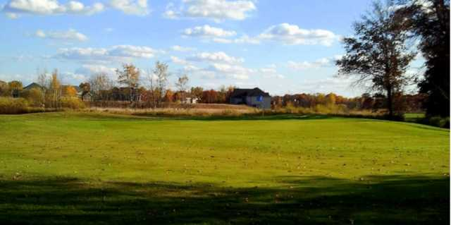 A view of the 2nd green at White Golf Course from The Ponds Golf Club.