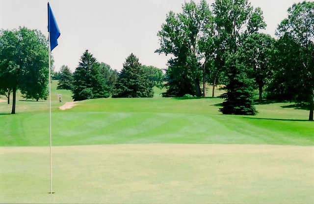A view of hole #13 at Manitou Ridge Golf Club.
