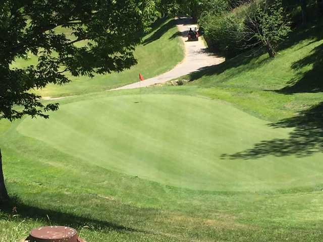 A view of hole #10 at Sugar Creek Golf Course.
