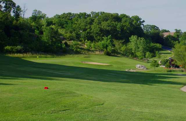 A view from a tee at Sugar Creek Golf Course.