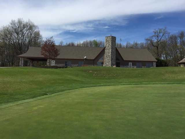 A view of the clubhouse at Chesapeake Run Golf Club.