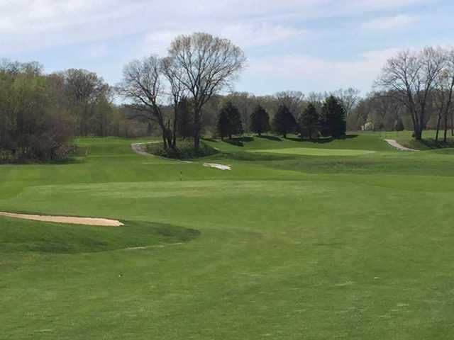 A view of a hole at Chesapeake Run Golf Club