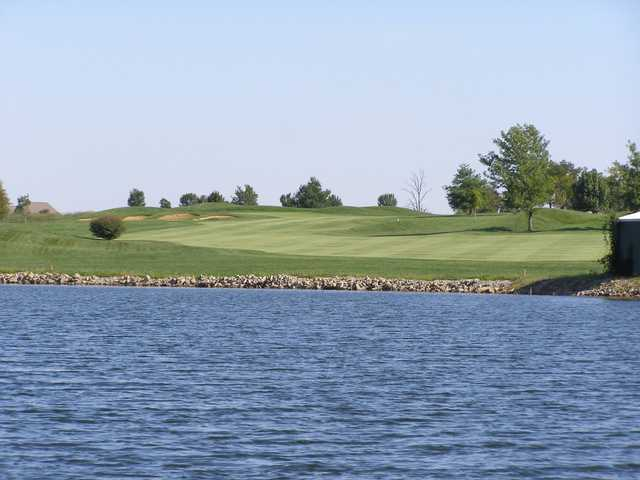 A view over the water from Crown Pointe Golf Club.