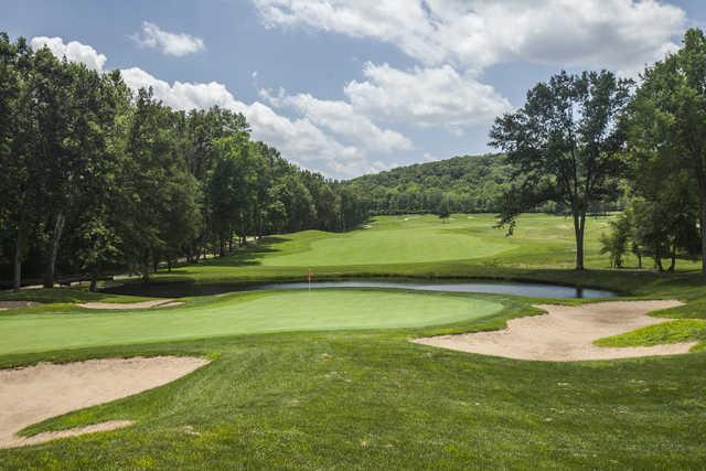 A view of the 13th green at Fox Run Golf Club.