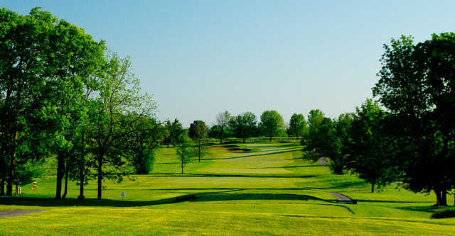 A view from a tee at Wood Wind Golf Club.