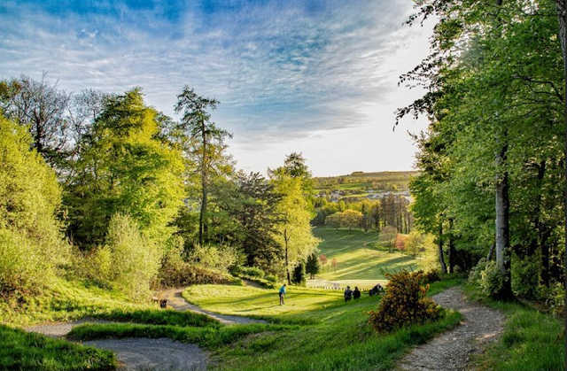 View from a tee at Castlecomer Golf Club.