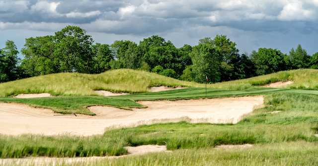 A view of the 17th green at Purgatory Golf Club.